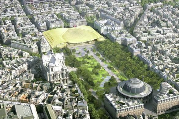 Projet Halles compressed 585x390 - Inauguration de la Canopée et du Forum des Halles