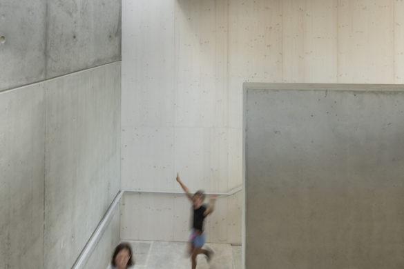 23 richter lingolsheim escalier elementaire Luc Boegly 585x390 - Richter architectes : de la frange au centre