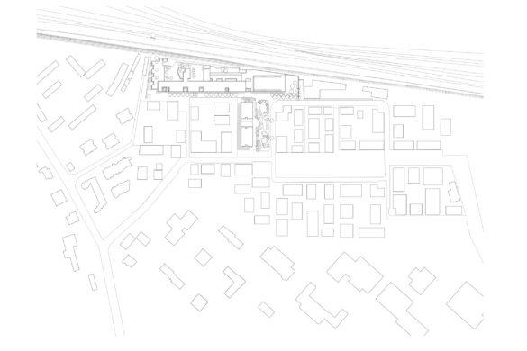 richter lingolsheim plan masse 585x390 - Groupe scolaire et gymnase à Lingolsheim de Richter architectes et associés