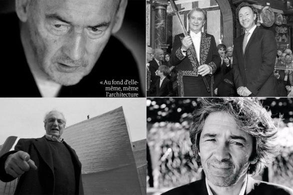 rudy ricciotti rem koolhaas frank gehry jean michel wilmotte  585x390 - Rudy, Frank, Rem, Santiago et les autres : paroles d'architectes - la revue de presse du 30 octobre 2017