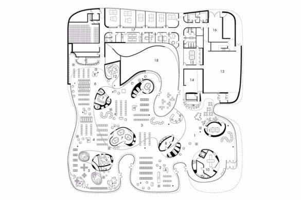 03 Plan rdc mediatheque thionville coulon 585x390 - Médiathèque Troisième Lieu à Thionville par Dominique Coulon