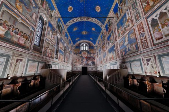 Scrovegni Chapel giotto iguzzini 4 585x390 - Les fresques de Giotto sous les feux des LED