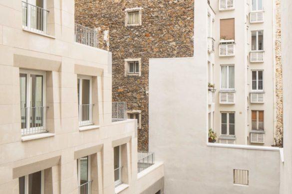 02 logements pierre oberkampf barrault pressacco cGiaime Meloni 585x390 - Barrault & Pressacco livrent des logements en pierre massive: innovation vernaculaire?