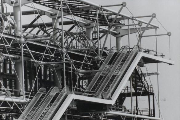 Construction du Centre Pompidou Centre Pompidou Jean Claude Planchet Georges Meguerditchian Eustache Kossakowski 2 585x390 - Beaubourg revient sur ses beaux jours