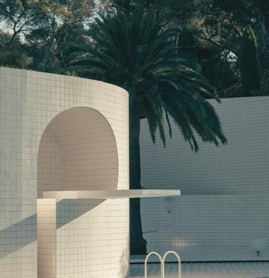 villa noailles domestic pools Alain Capeillères's pool in Var c Romain Laprade 2017 377x390 - Domestic Pools ou l'architecture des piscines privées