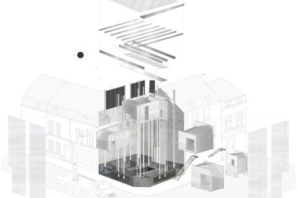 02 trophee beton eric raoult 585x390 - Les lauréats du Trophée béton école s'exposent à la Maison de l'archi