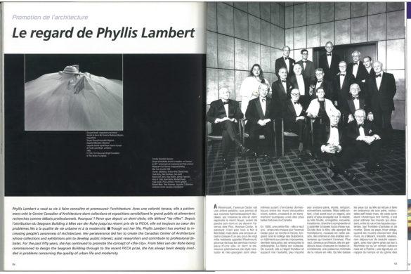 phillys lambert p1 585x390 - Rétro: Le regard de Phyllis Lambert