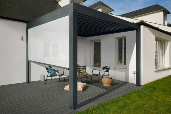 LAPEYRE Toit de terrasse aluminium Pergola Fira 585x390 - Pergola : bioclimatique et automatique avec Fira