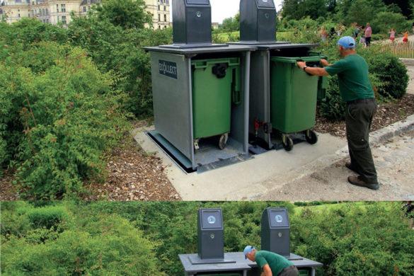 ecobac ecollect 585x390 - Mobilier urbain : les poubelles Ecobac 1500 et Ecobac 360