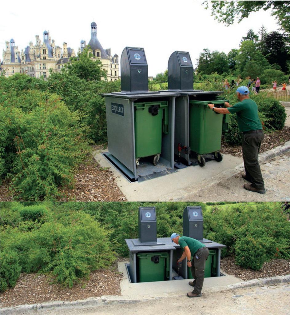 ecobac ecollect 943x1024 - Mobilier urbain : les poubelles Ecobac 1500 et Ecobac 360
