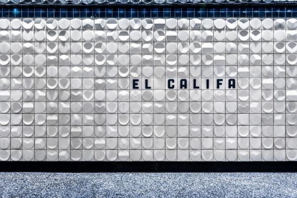 El Califa Web 01 585x390 - Esrawe Studio réinvente la tortilla mexicaine pour le design intérieurd'une Taquerìa