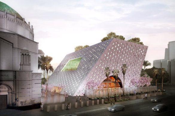 merlin 136200525 53dfb8bd 5e51 4b47 bb58 c90f0dc4f166 master768 585x390 - OMA / Shohei Shigematsu : conception dévoilée pour Audrey Irmas Pavilion, une nouvelle extension du temple de Wilshire Boulevard à Los Angeles