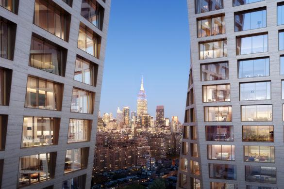 5. The XI   Rendering Credit Dbox for HFZ Capital Group 585x390 - The XI premier projet résidentiel ethôtelier deBjarke Ingels Groupà New York