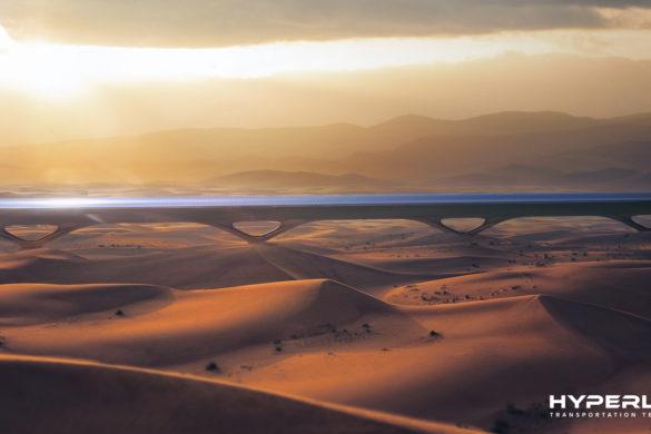 HyperloopTT System Desert 585x390 - Hyperloop : en route vers une révolution des transports et un urbanisme du futur ?