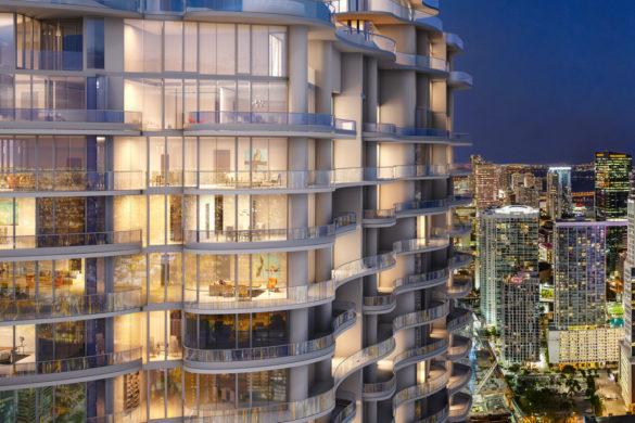 Brickell Flatiron   Exterior Zoom 1 585x390 - La construction du Brickell Flatiron de Miami est bientôt terminée