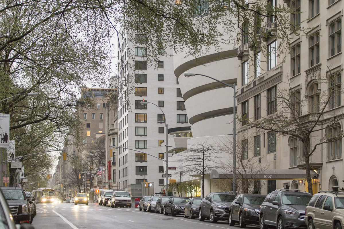 galerie musee frank lloyd wright guggenheim exterieur vue urbaine - Frank Lloyd Wright, l'architecte qui conquit l'Amérique