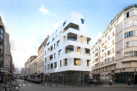 PierreLExcellent NOA CroixNivert 10 585x390 - Un bâtiment blanc comme la neige signé Nakache & Orihuela Architectes voit le jour à Paris