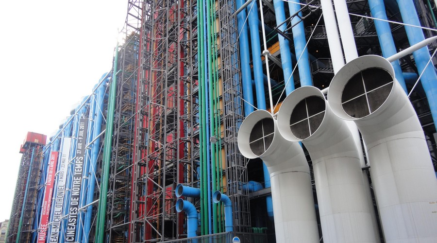centre pompidou musee paris renzo piano - Renzo Piano, l'architecte italien contemporain !
