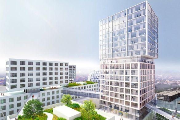 pnm5dgh3u5xkqv3n 585x390 - Début de la construction du port d'innovation de MVRDV à Hambourg, un projet à usage mixte de 70 000 m2