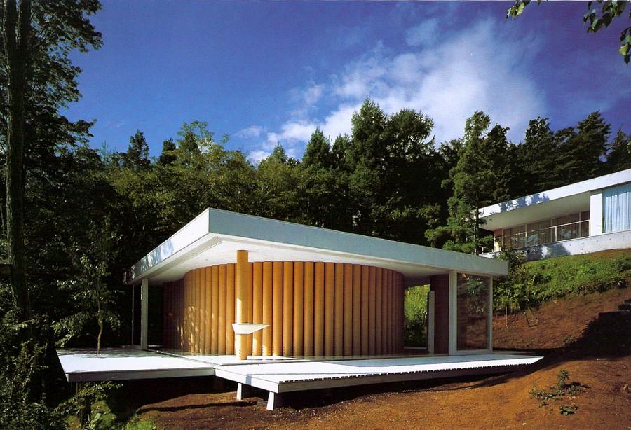 shigeru ban architecture carton maison en carton logement habitat 1995 japon residence vue ensemble - La Maison en Carton de Shigeru Ban - 1995