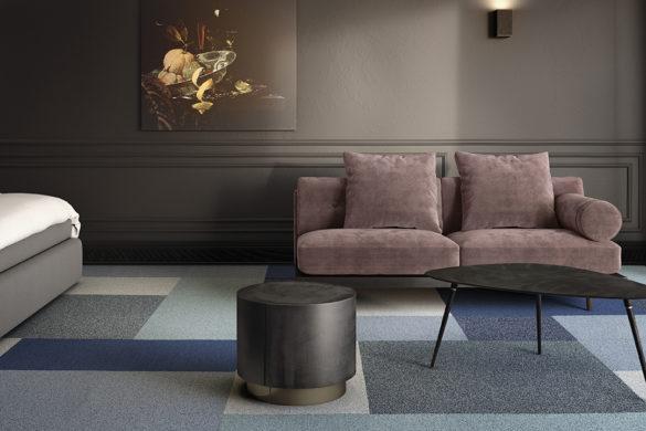 Gleam 511 535 569 581 Spark 511 5501 585x390 - Les revêtements de sols textiles :  une solution au design illimité