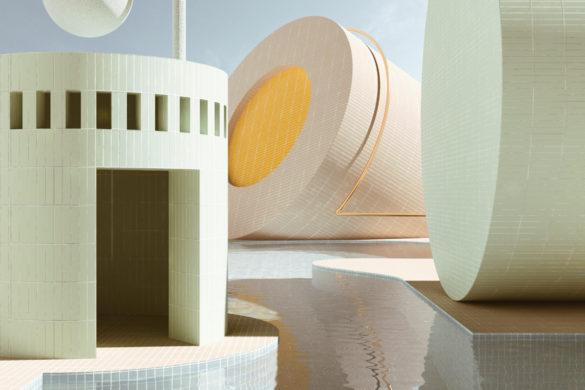 Les rendus 3D dAlexis Christodoulou une ballade architecturale entre poésie et imaginaire pastel 10 585x390 - Les rendus 3D d'Alexis Christodoulou une ballade architecturale entre poésie et imaginaire pastel