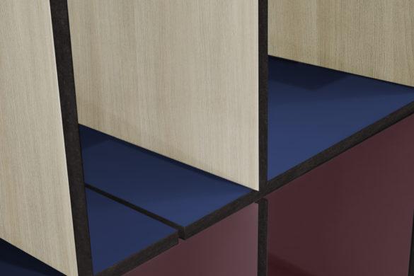 Polyrey meuble mélaminé âme MDF noire 585x390 - Polyrey lance un Tour d'Europe de sa nouvelle collection