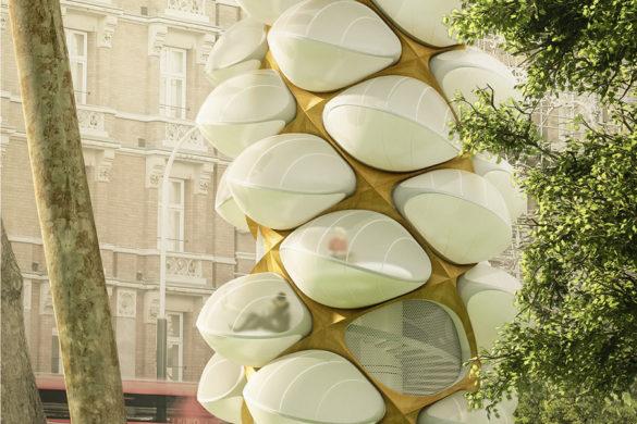 visual 1 smal 905 585x390 - Tree Hopper, un arbre cocon pour se détendre en ville !