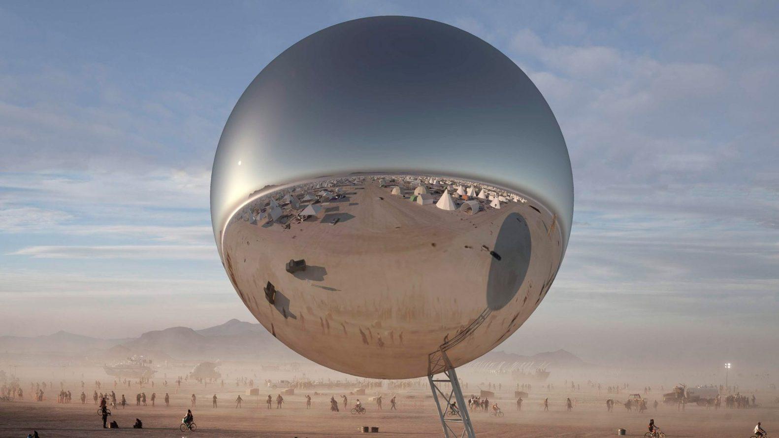 1 1 - Pari réussi pour BIG son ORB géant prend forme au festival Burning Man