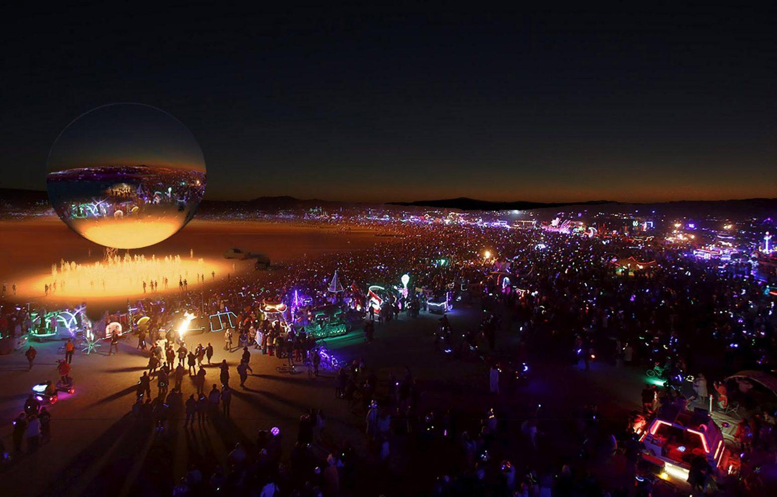 2 2 - Pari réussi pour BIG son ORB géant prend forme au festival Burning Man