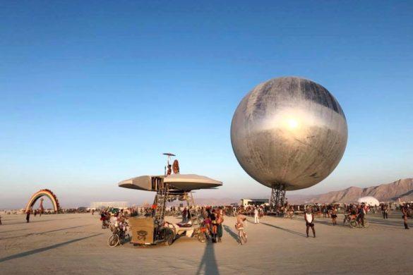 Kai Uwe Bergmann 1 585x390 - Pari réussi pour BIG son ORB géant prend forme au festival Burning Man