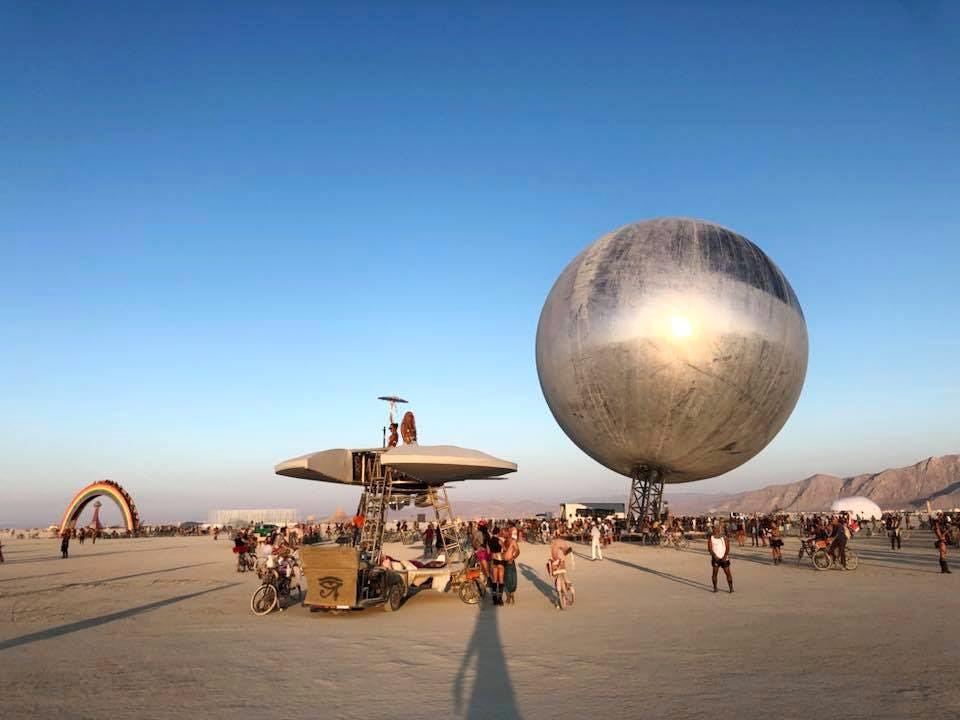 Kai Uwe Bergmann 1 - Pari réussi pour BIG son ORB géant prend forme au festival Burning Man