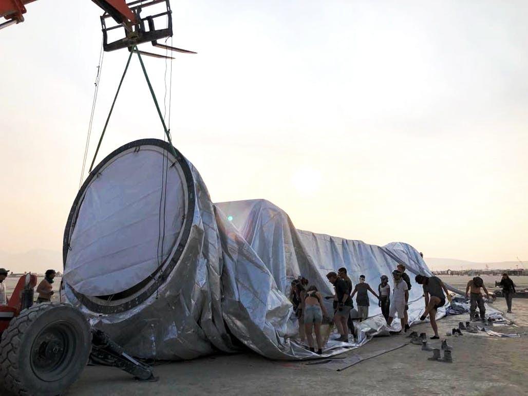 Kai Uwe Bergmann 2 - Pari réussi pour BIG son ORB géant prend forme au festival Burning Man