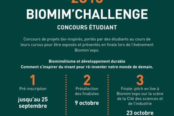 affiche concours etudiant biomimexpo 2018 210x297 585x390 - Concours etudiant : Biomim'Challenge 2018