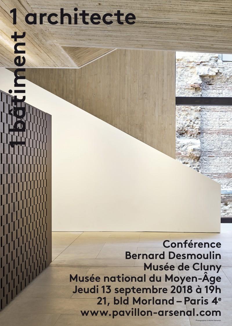 colonne affiche bernard desmoulin 82531 - Conférence de l'architecte Bernard Desmoulin autour du Musée de Cluny