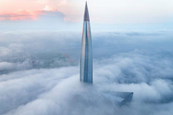 lakhta centre rmjm supertall skycraper photos viktor sukharukov dezeen 2364 col 1 852x622 1 585x390 - Le Lakhta Centre est le plus grand bâtiment d'Europe