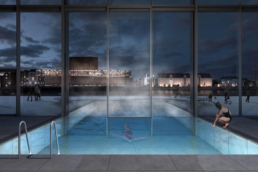 cobe paper island copenhague danemark ile bains thermes2 - COBE célèbre le mode de vie danois en plein cœur de la capitale avec Paper Island