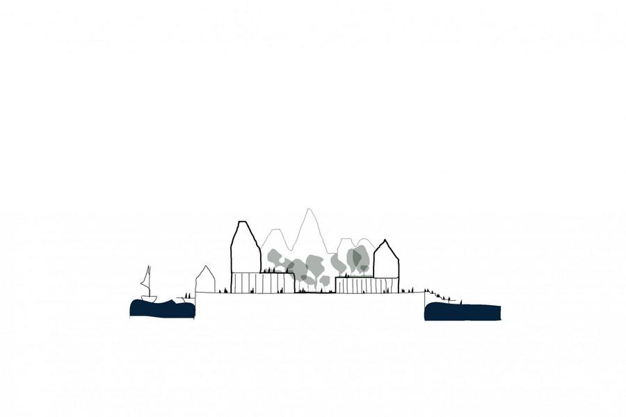 cobe paper island copenhague danemark ile sch%C3%A9ma - COBE célèbre le mode de vie danois en plein cœur de la capitale avec Paper Island