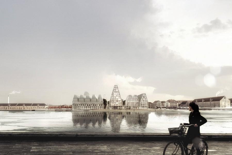 cobe paper island copenhague danemark ile vue v%C3%A9lo - COBE célèbre le mode de vie danois en plein cœur de la capitale avec Paper Island